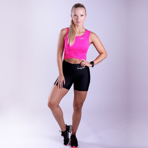 Șort fitness Ladylab BLACK