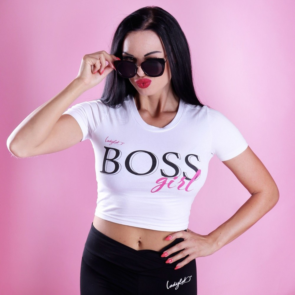 White Crop Top - BOSS Girl