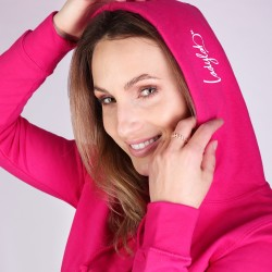 Ladylab Mikina s kapucí – CHERRY PINK