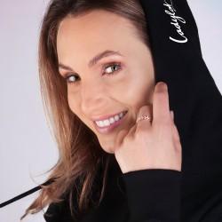 Ladylab Mikina s kapucí – BLACK