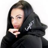 Ladylab Mikina s kapucí - BLACK